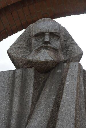 communists: Marx - Engels - Communist Monument - Memento Park - Budapest Stock Photo
