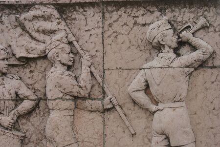 councils: Repubblica di placca Consigli Pionieri - La Passeggiata Unending dei concetti di circolazione dei lavoratori - Monumento comunista - Memento Park - Budapest Editoriali