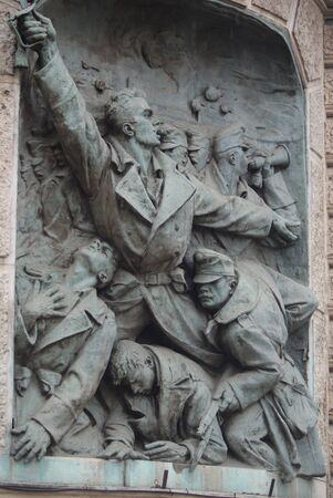 liberating: Andrassy Street Plaque - Historical Budapest Editorial