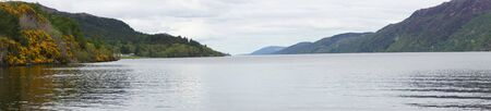 loch ness: Loch Ness at Fort Augustus - Scotland Stock Photo