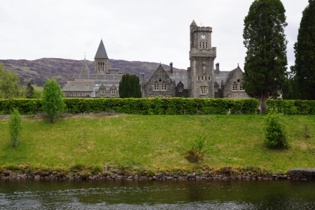 loch ness: The Abbey in Fort Augustus by Loch Ness