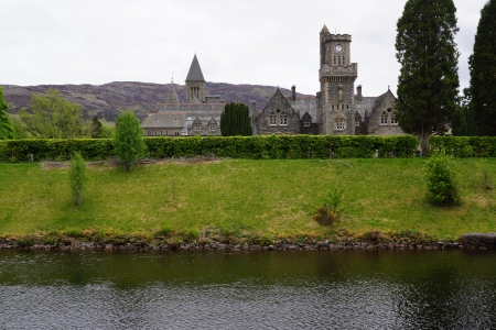 augustus: The Abbey in Fort Augustus by Loch Ness