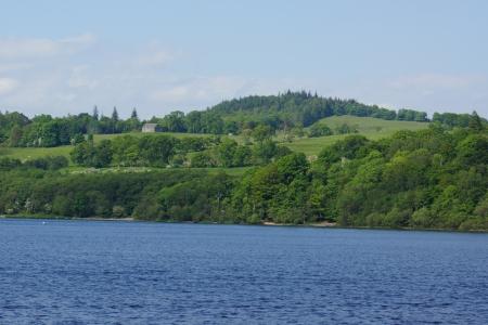 loch lomond: Beautiful Landscape Scenery at Loch Lomond in Scotland Stock Photo