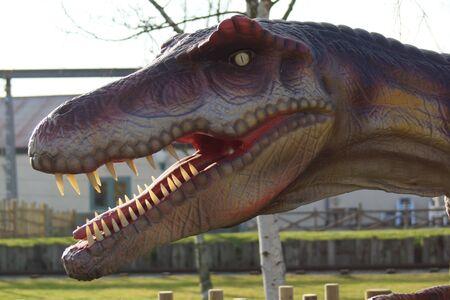 extinct: Portrait of an extinct Allosaurus - Allosaurus fragilis Editorial