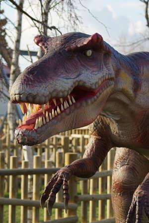 extinct: Portrait of an extinct Allosaurus - Allosaurus fragilis Stock Photo