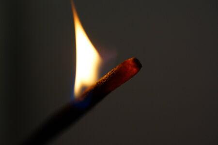 Macro image of a Burning Incense Stick photo