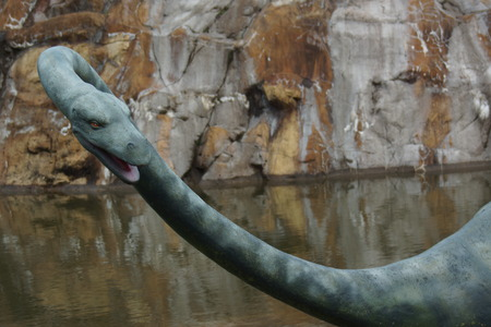 ness: Plesiosaurus dolichodeirus - Plesiosaur and The Loch Ness Monster? Stock Photo