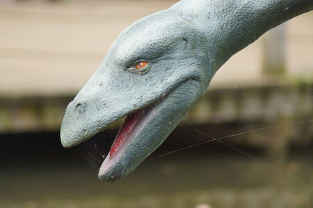 loch ness: Plesiosaurus dolichodeirus - Plesiosaur and The Loch Ness Monster? Stock Photo