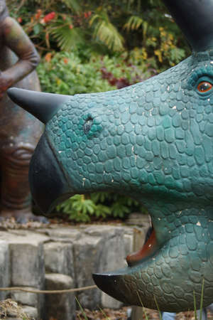 Pentaceratops - large horned armoured extinct prehistoric dinosaur photo