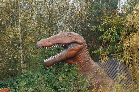extinct: Spinosaurus - large wild prehistoric extinct spined dinosaur Stock Photo