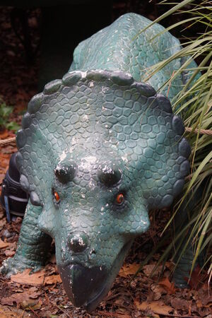 Triceratops - large horned armoured extinct prehistoric dinosaur photo