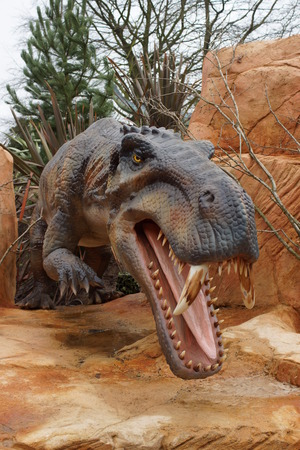 fearsome: The large-toothed prehistoric wild dinosaur - Gorgonops torvus