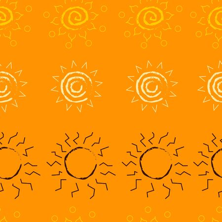 diferent: Seamless pattern with diferent suns. African motifs. bright and colorful background. Vector eps 10 Illustration
