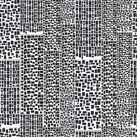 urban style: Abstract city seamless pattern. Black and white houses. Urban style. Different square Windows. The Dalmatian city. Modern city background. Vector illustration.