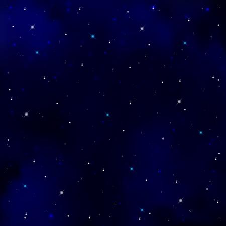 costellazioni: Cielo stellato. Blu scuro cielo notturno. Vivaci brillante stelle e costellazioni. spazio sfondo nero. Lo studio dell'astrologia. illustrazione di vettore Vettoriali