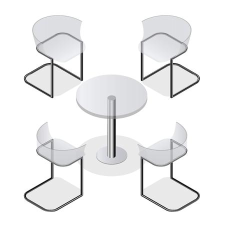 tavolo con sedie foto royalty free, immagini, immagini e archivi ... - Tavolo Da Pranzo Set Con Tavola Rotonda