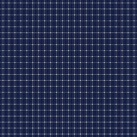 photocell: Solar panel seamless pattern. Power from the sun. Dark blue background. Environmental engineering. Save the planet. Vector illustration. Illustration
