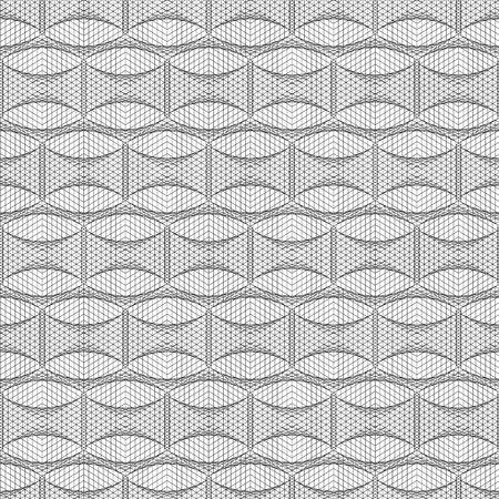 Abstract seamless geometric pattern. Black and white lattice. Linear style. Monochrome background. Vector illustration.