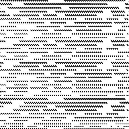 Dot glitch seamless pattern. Striped background. Black and white geometric elements. Vector illustration. Ilustrace