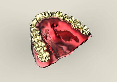 dentures: 3D rendering denture