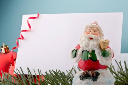 Letter to Santa with Christmas decorations photo
