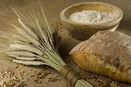 Homemade bread ingredients photo