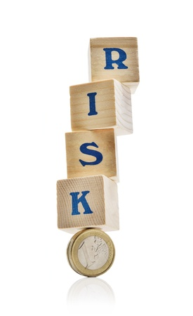 risking: Wooden blockes risking to fall