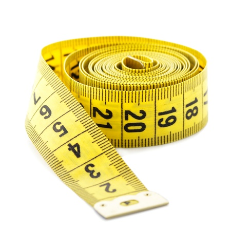 measure tape: Measuring tape isolated on white background