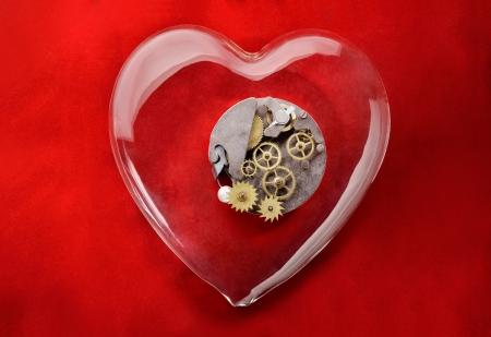 romance: Engranaje del amor Foto de archivo