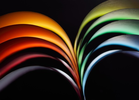 Abstract rainbow background with colored paper photo