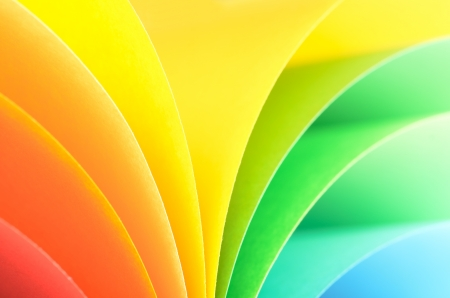 Abstract rainbow background with colored paper.Light tones. photo