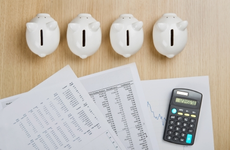 allocation: Create a plan for saving money Stock Photo