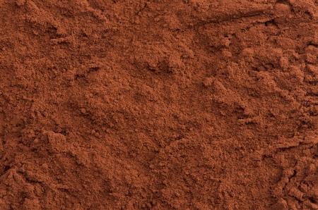 ココア粉上のクローズ アップの背景 写真素材
