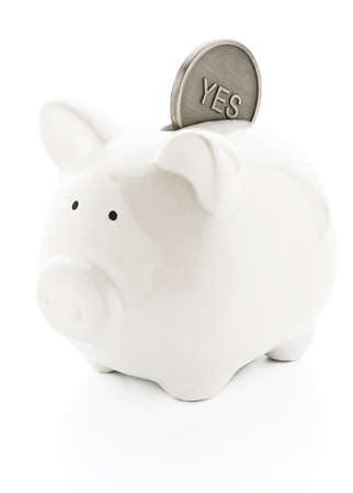 dividend: Piggy bank ready for savings