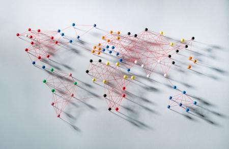 세계지도를 의미하는 다양한 연결