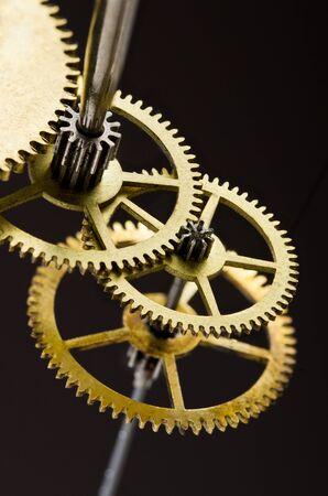 Gears. Gears mechanism, macro view Фото со стока