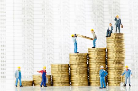 Werkende mannen creëren van zakelijke groei