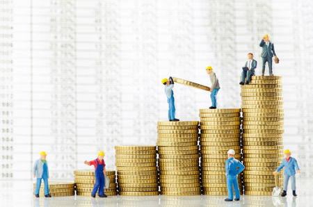 Working men creating business growth photo