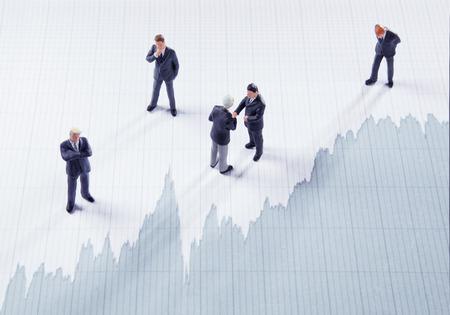 ビジネスマン、株式市場の再生 写真素材