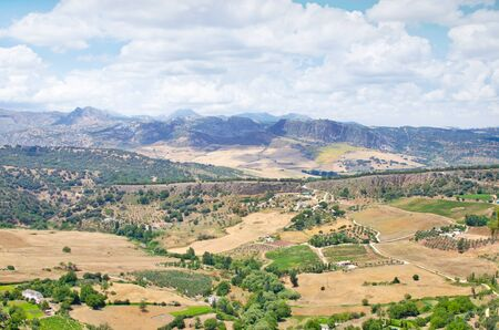 ronda: Spanish rural summer landscape from Ronda view