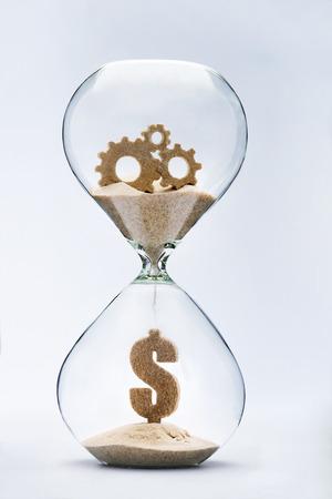 gastos: Tempo é dinheiro. Engrenagens de sucesso