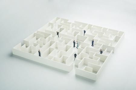 loveheart: Business partnership. Businessmen navigating through a maze