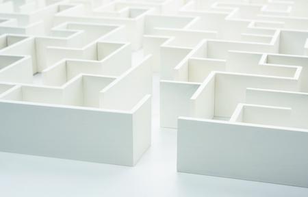 laberinto: Al entrar en el laberinto. Concepto para la toma de decisiones