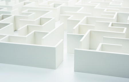 decisionmaking: Entering the maze. Concept for decision-making Stock Photo