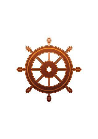 Boat Rudder Vector Çizim