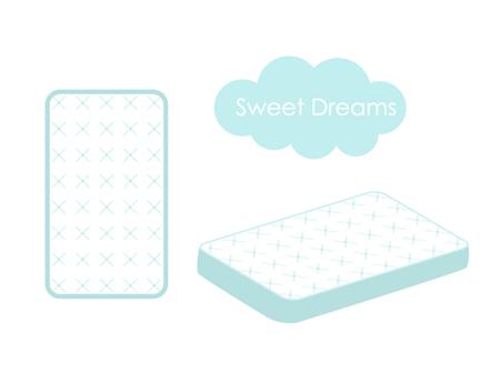 modello di struttura del materasso isolato su uno sfondo bianco
