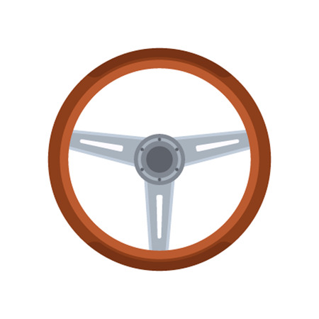 rudder: Car rudder wheel vector illustration. Car rudder wheel isolated on white background. Car rudder wheel vector icon illustration. Car rudder wheel isolated vector. Car rudder wheel silhouette Illustration