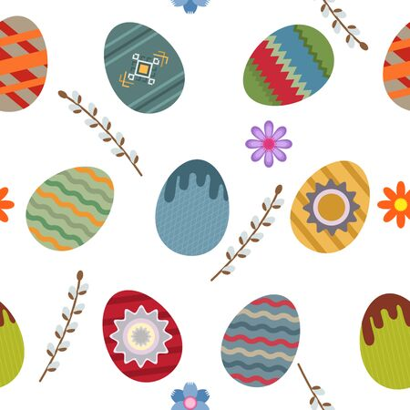 Seamless easter pattern. flat vector illustration Illustration