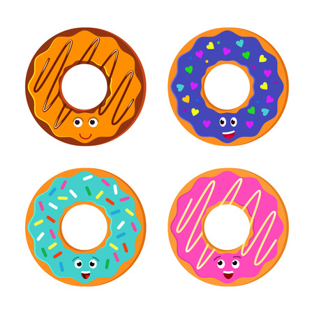 Donut Vector. Icon for web and mobile application. Flat design style.