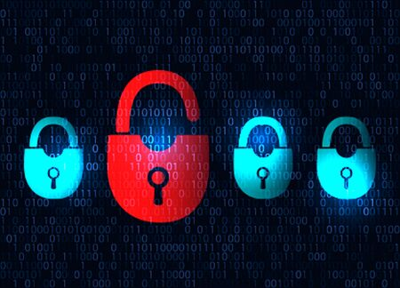 lockout: The concept of protecting personal data on the Internet. vector illustration Illustration